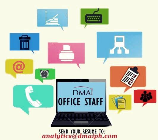 Now Hiring DMAI Office Staff For Our New Emerald Avenue (Ortigas) Office.
