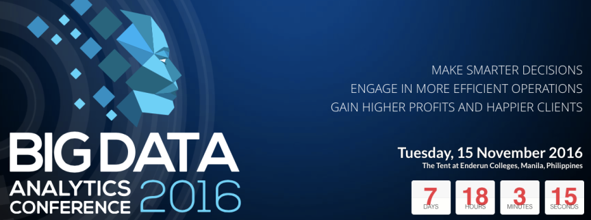 My Take Aways for the Big Data Conference 2016