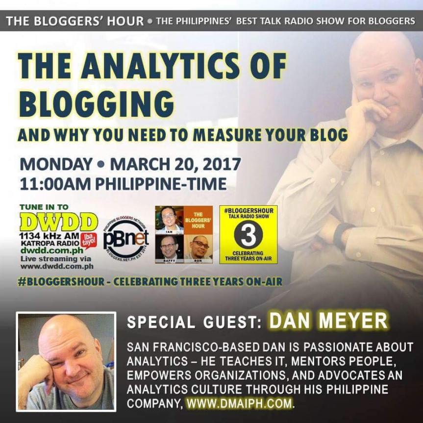 Radio DWDD today @ 11am – The Analytics of Blogging