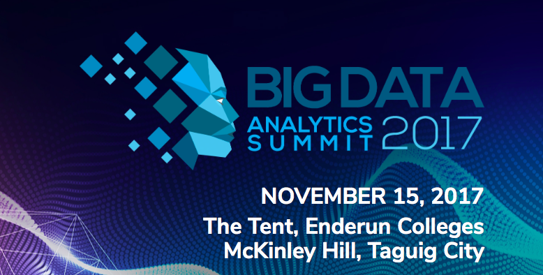 DMAIPH will be at the Big Data Conference on Nov 15 – 2017 @ Enderun